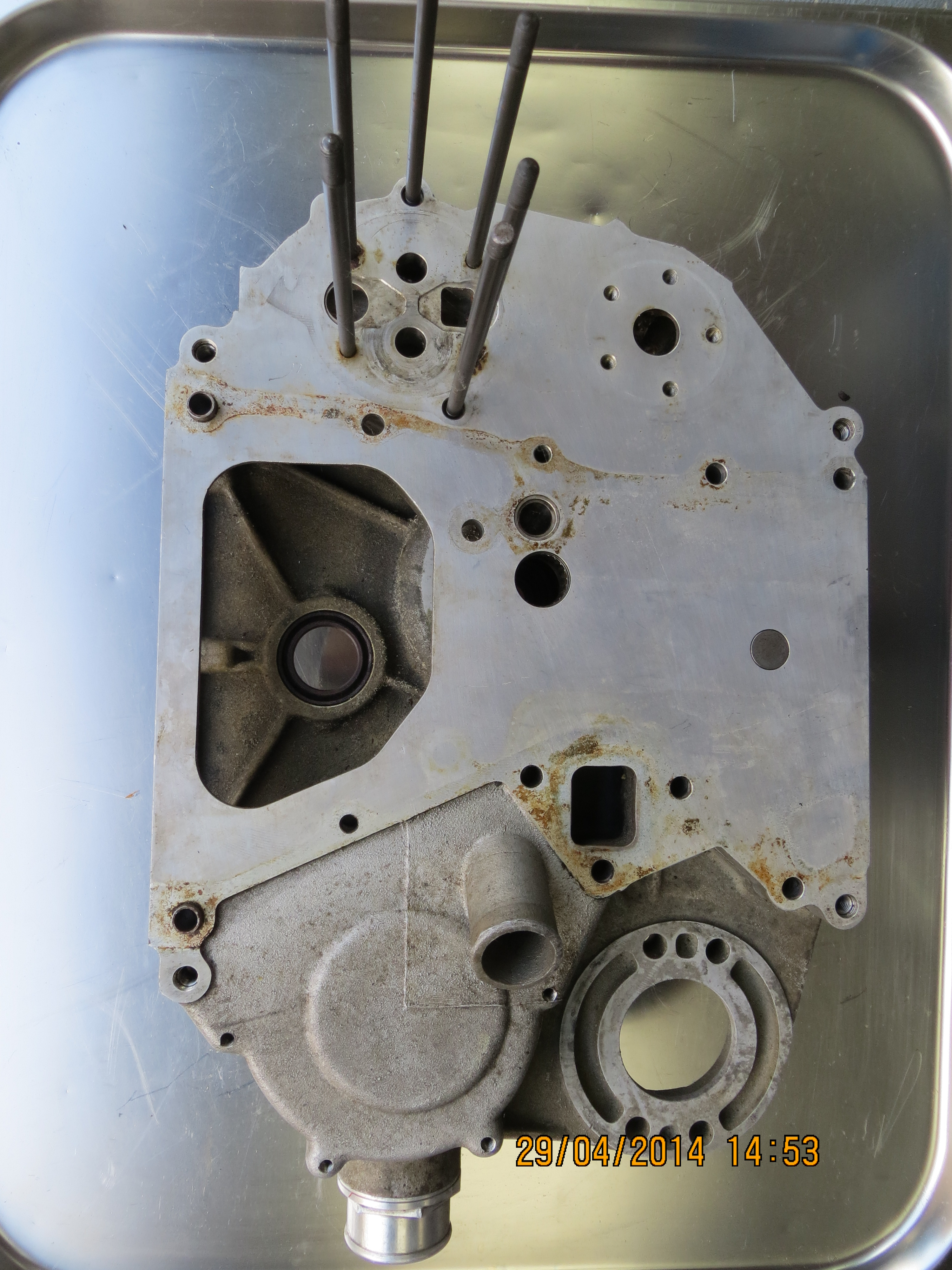 Spicer Banjo Housing : Bmw megatron front engine cover with sandwich plate