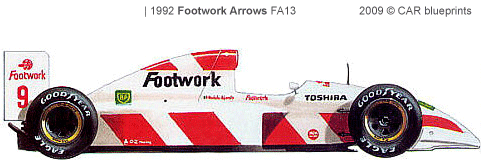 footwork-arrows-fa13-f1-1992
